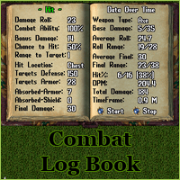 Ultima Online Combat Log Book