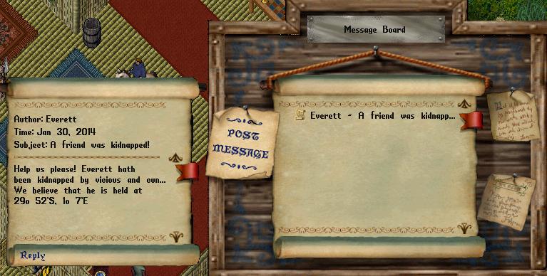 Ultima Online Message Board